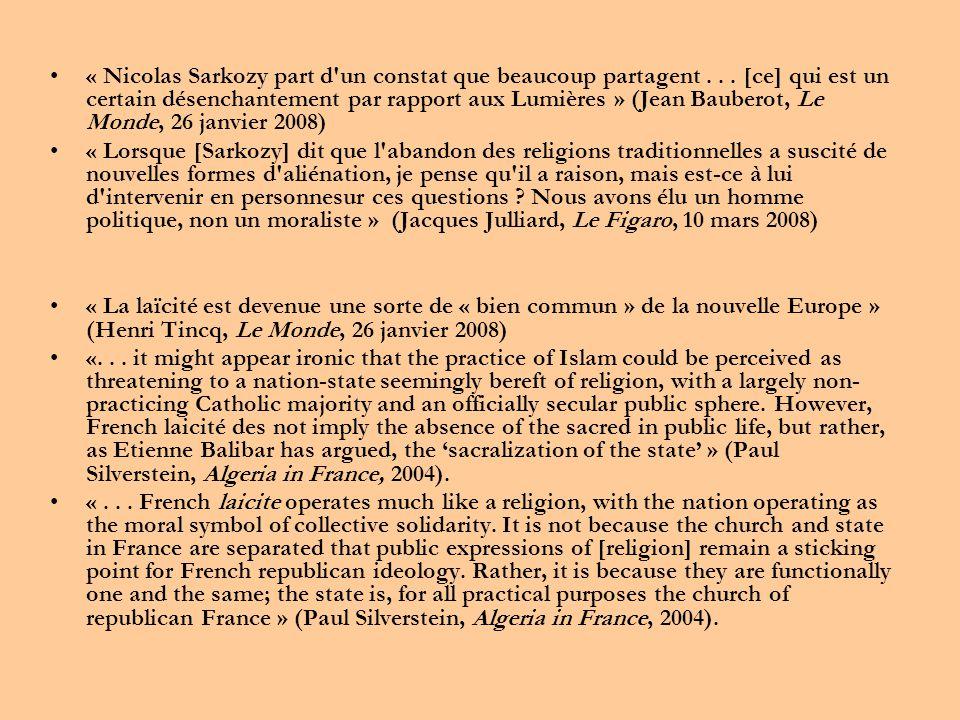 •« Nicolas Sarkozy part d un constat que beaucoup partagent...