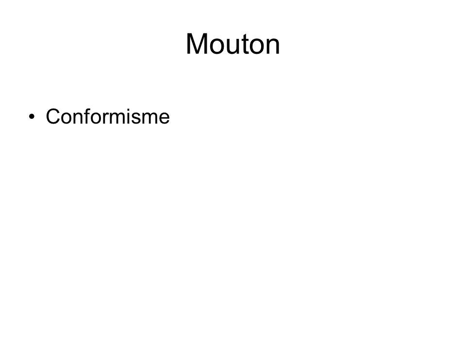 Mouton •Conformisme