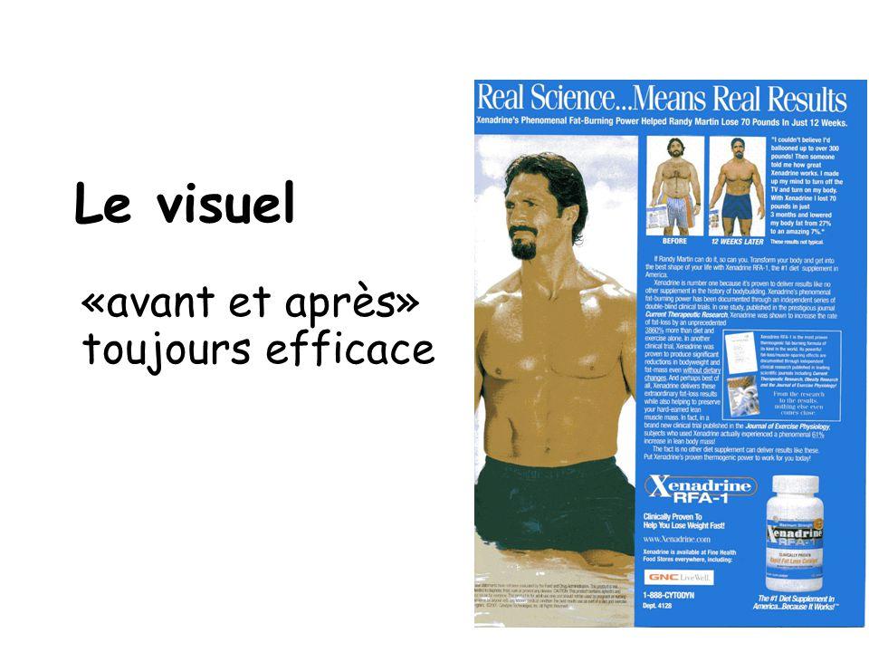 Le visuel «avant et après» toujours efficace