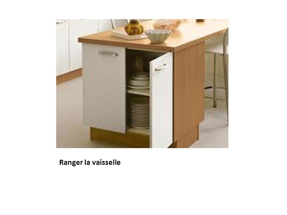 Ranger la vaisselle