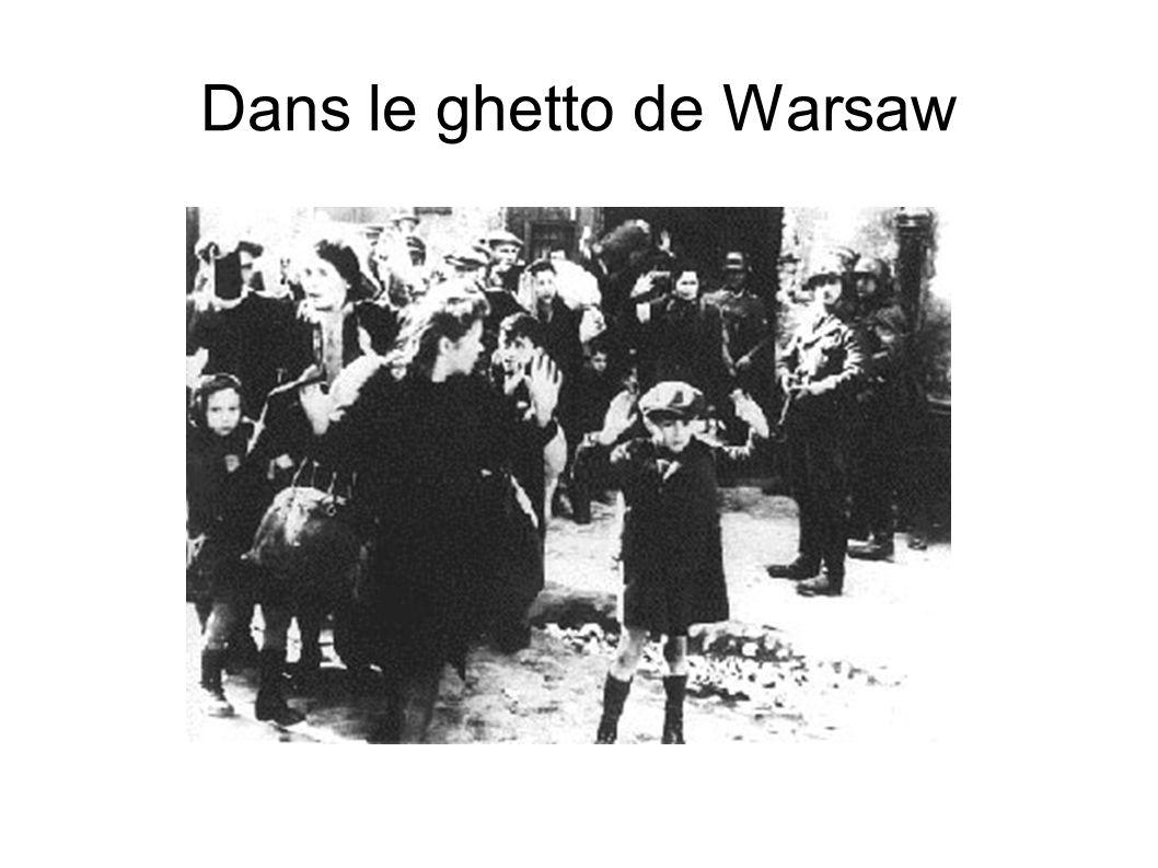 Dans le ghetto de Warsaw