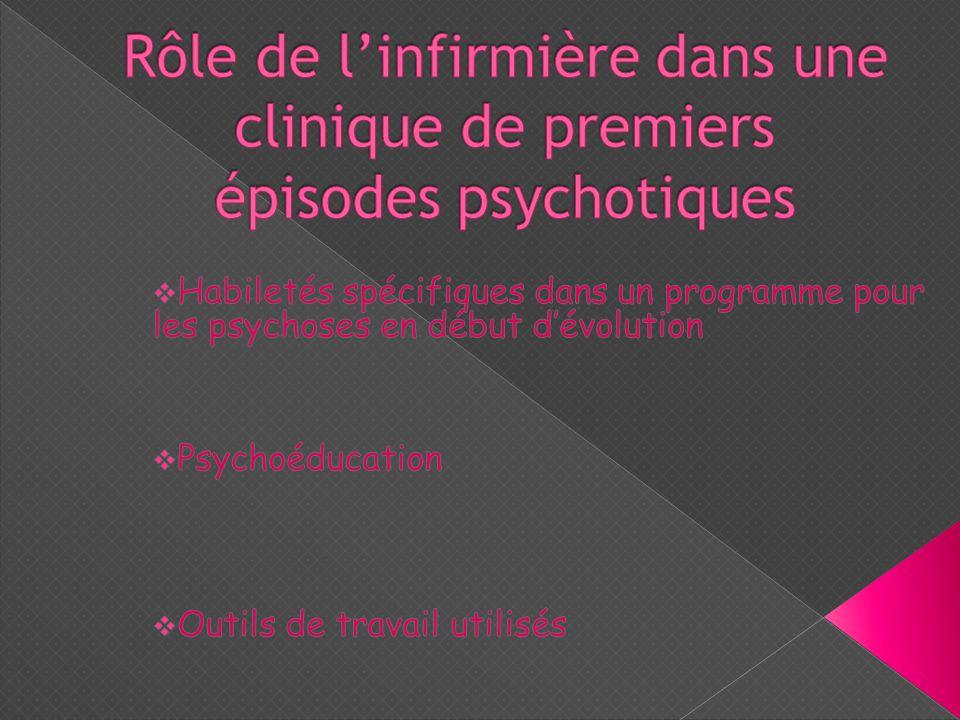  Dépistage précoce des psychoses  Amélioration de l'état mental de la personne par un traitement intensif et une intervention clinique soutenue  Prévention des rechutes