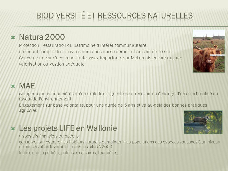  Natura 2000 - Protection, restauration du patrimoine d'intérêt communautaire, - en tenant compte des activités humaines qui se déroulent au sein de ce site.