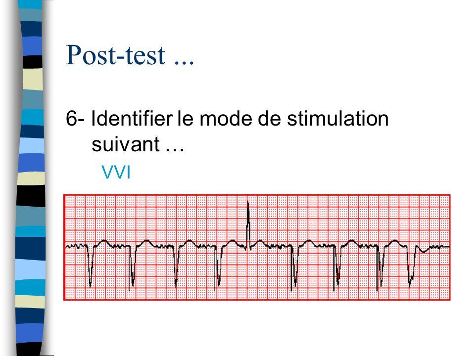 Post-test... 6- Identifier le mode de stimulation suivant … VVI