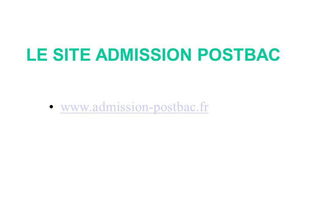 LE SITE ADMISSION POSTBAC •www.admission-postbac.frwww.admission-postbac.fr