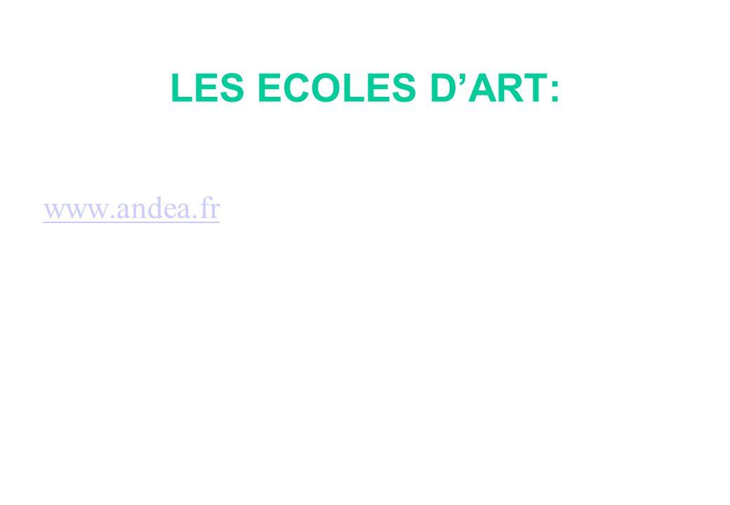 LES ECOLES D'ART: www.andea.fr