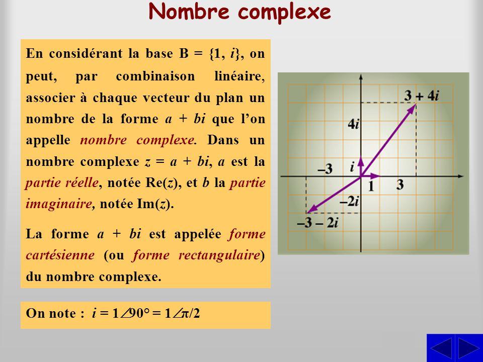 Nombre complexe Chaque nombre réel peut être représenté sur un axe horizontal en associant à ce nombre un segment de droite ou un point sur l'axe et,