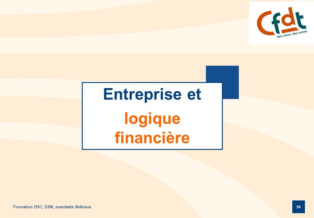 Formation DSC, DSN, mandatés fédéraux 50 Entreprise et logique financière