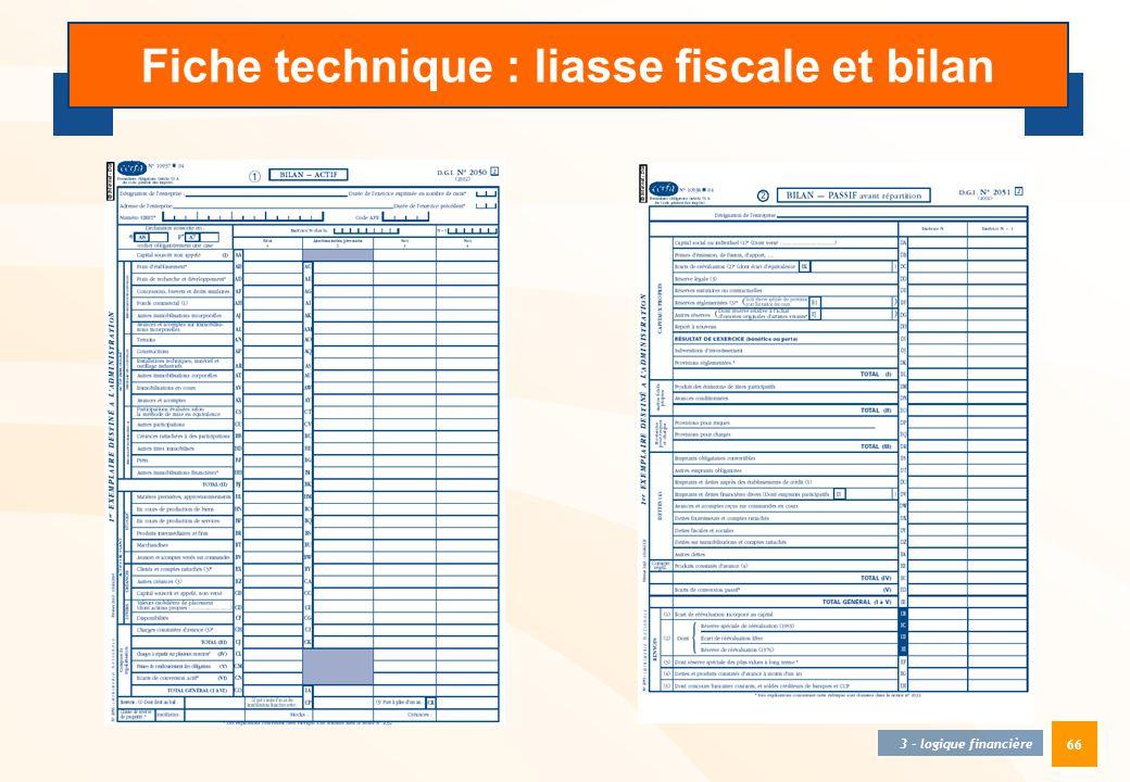 66 3 - logique financière Fiche technique : liasse fiscale et bilan