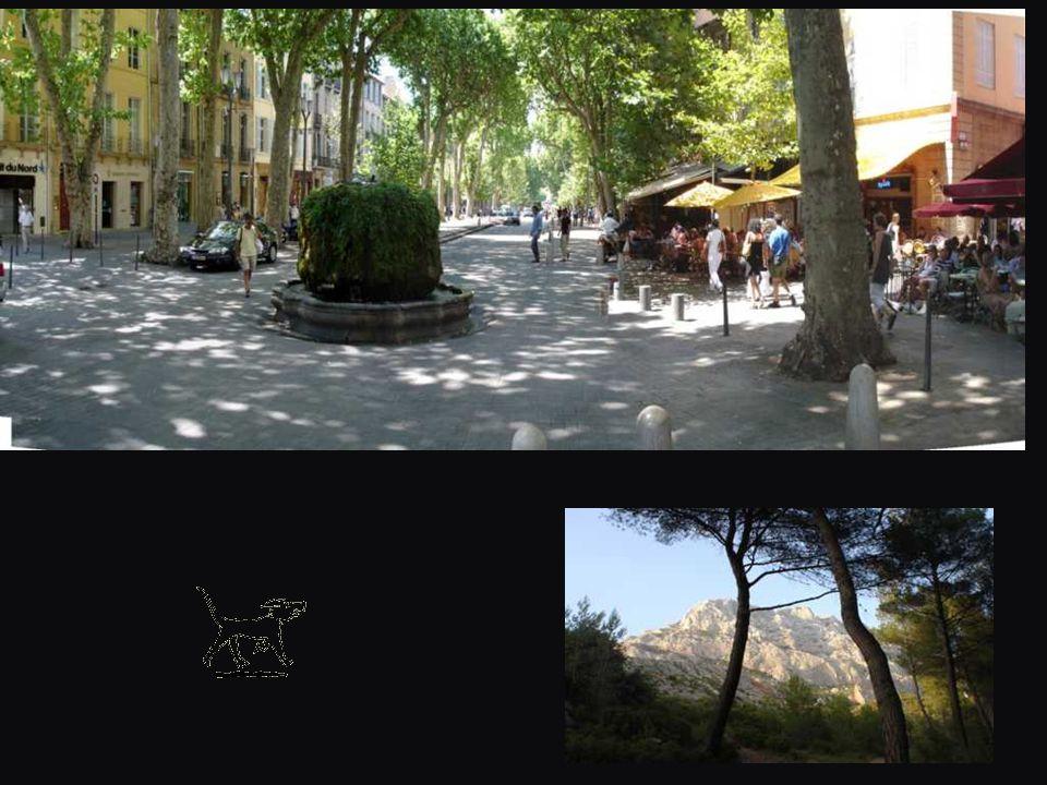 Où l'on retourne à lenfilade des cafés sur le »Cours » à Aix