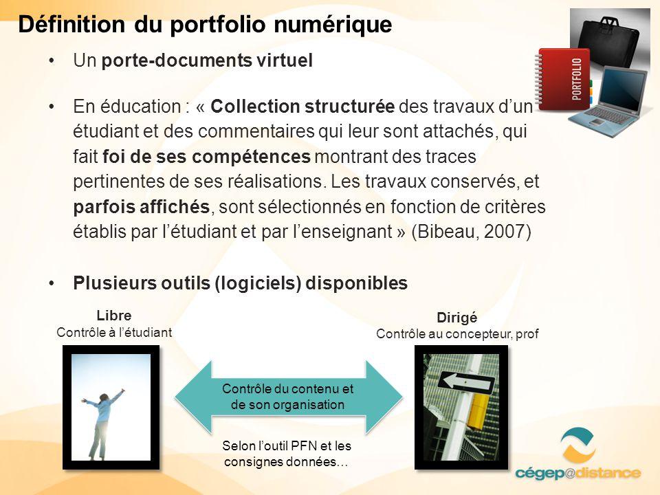 Définition du portfolio numérique • Un porte-documents virtuel • En éducation : « Collection structurée des travaux d'un étudiant et des commentaires