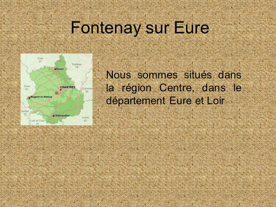 Notre village •Fontenay sur Eure est un village de 830 habitants, au bord de l'Eure.
