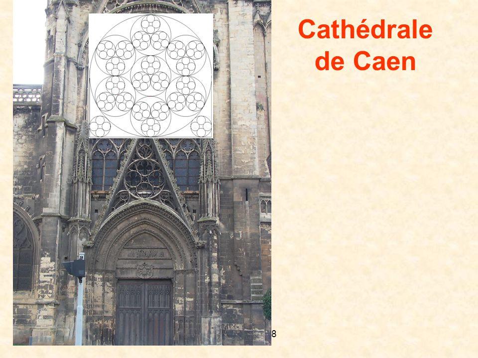 D. Gaud LPI 2008 Plan de la cathédrale de Chartres Pentagone......Heptagone