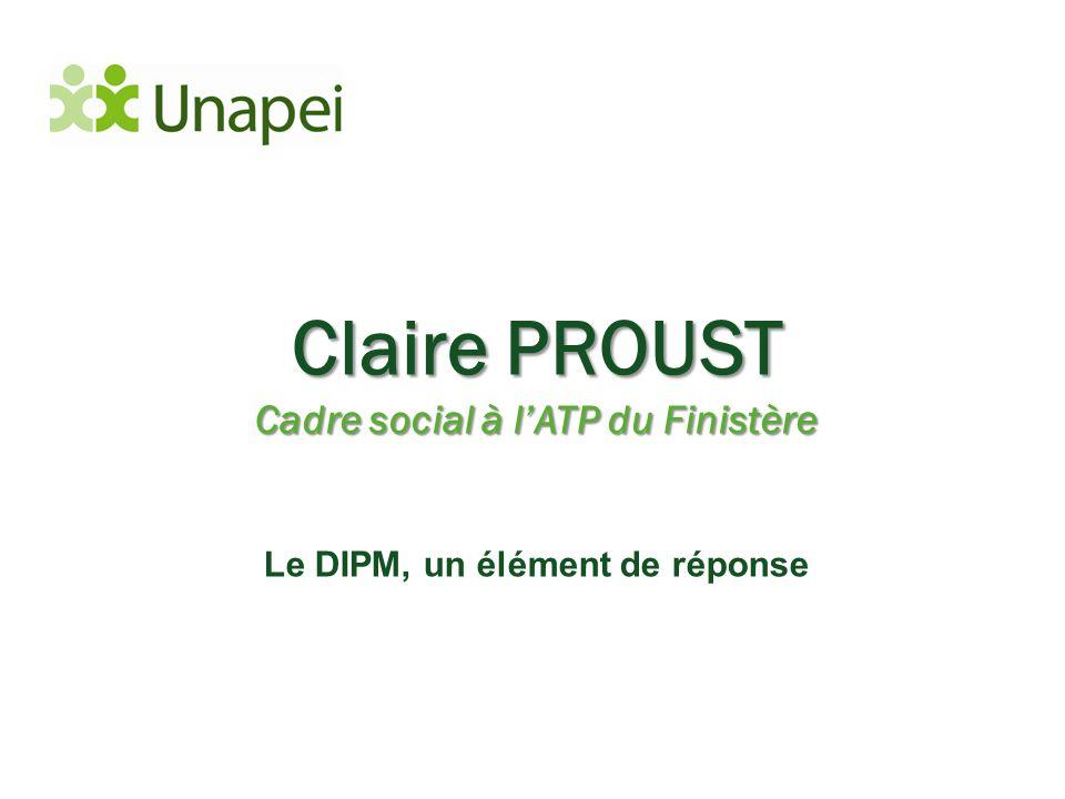 Claire PROUST Cadre social à l'ATP du Finistère Le DIPM, un élément de réponse