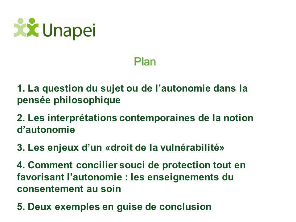 Plan 1. La question du sujet ou de l'autonomie dans la pensée philosophique 2. Les interprétations contemporaines de la notion d'autonomie 3. Les enje