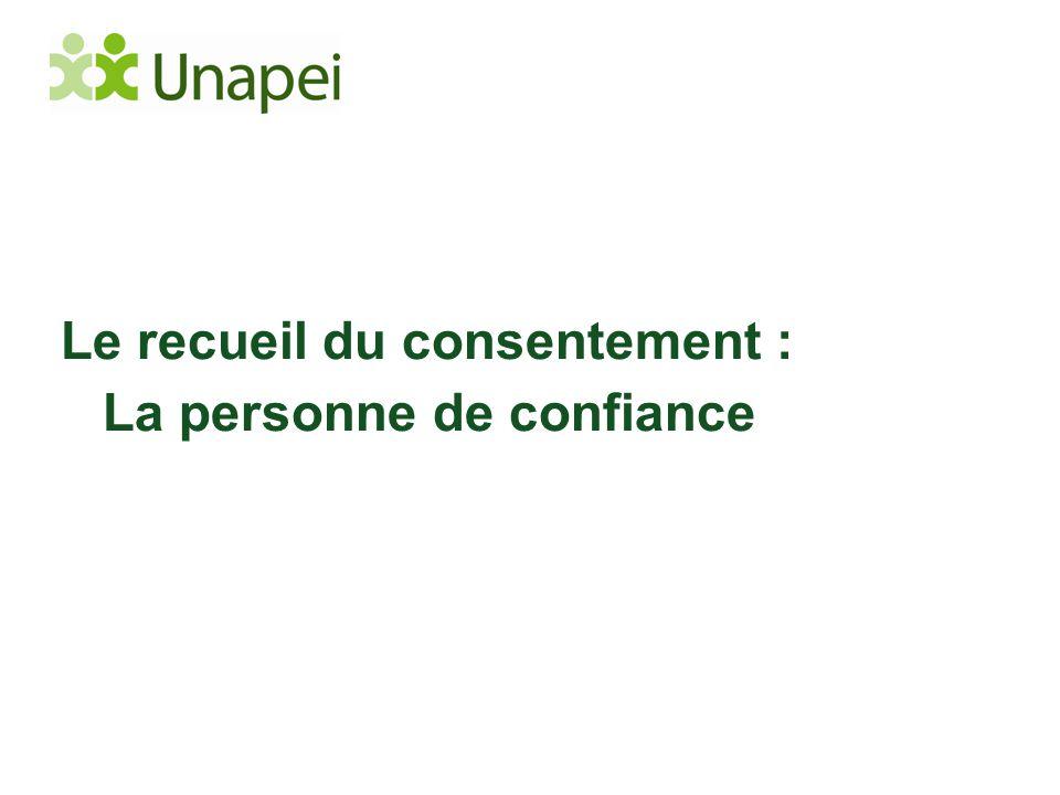 Le recueil du consentement : La personne de confiance