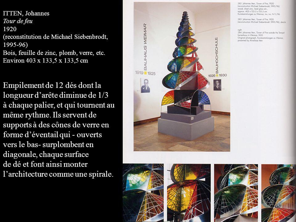 ITTEN, Johannes Tour de feu 1920 (reconstitution de Michael Siebenbrodt, 1995-96) Bois, feuille de zinc, plomb, verre, etc.