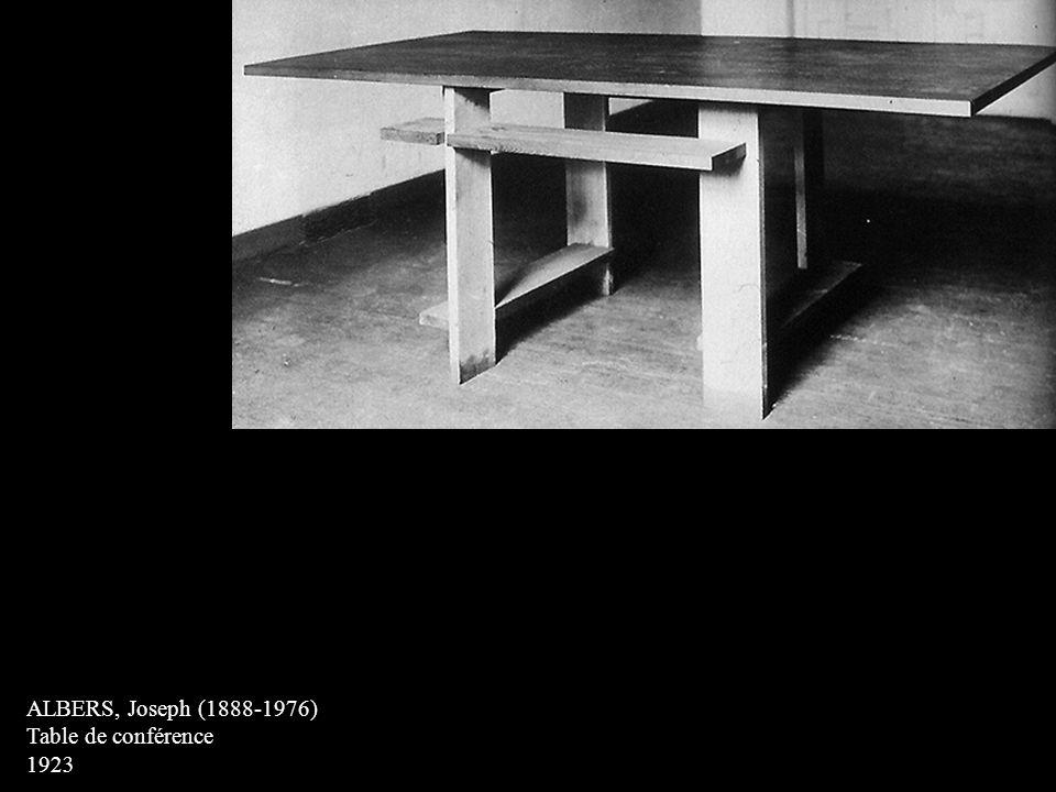 ALBERS, Joseph (1888-1976) Table de conférence 1923
