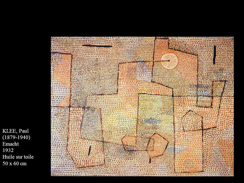 KLEE, Paul (1879-1940) Emacht 1932 Huile sur toile 50 x 60 cm