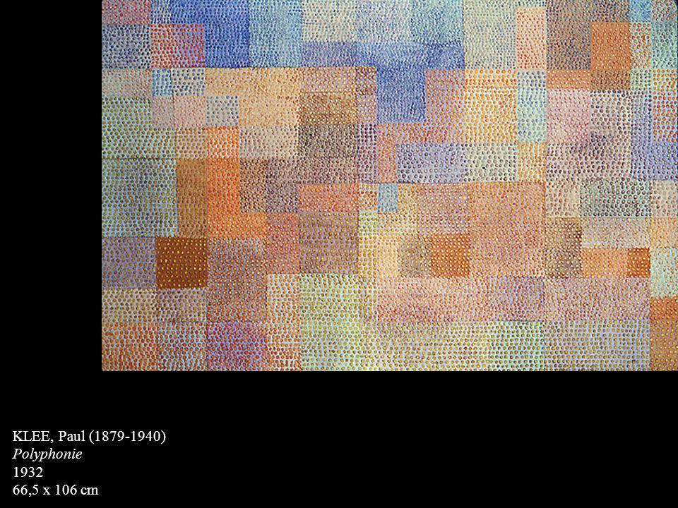 KLEE, Paul (1879-1940) Polyphonie 1932 66,5 x 106 cm