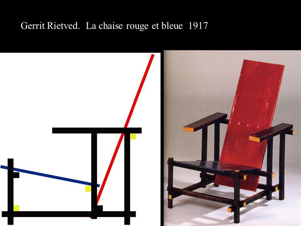 Gerrit Rietved. La chaise rouge et bleue 1917