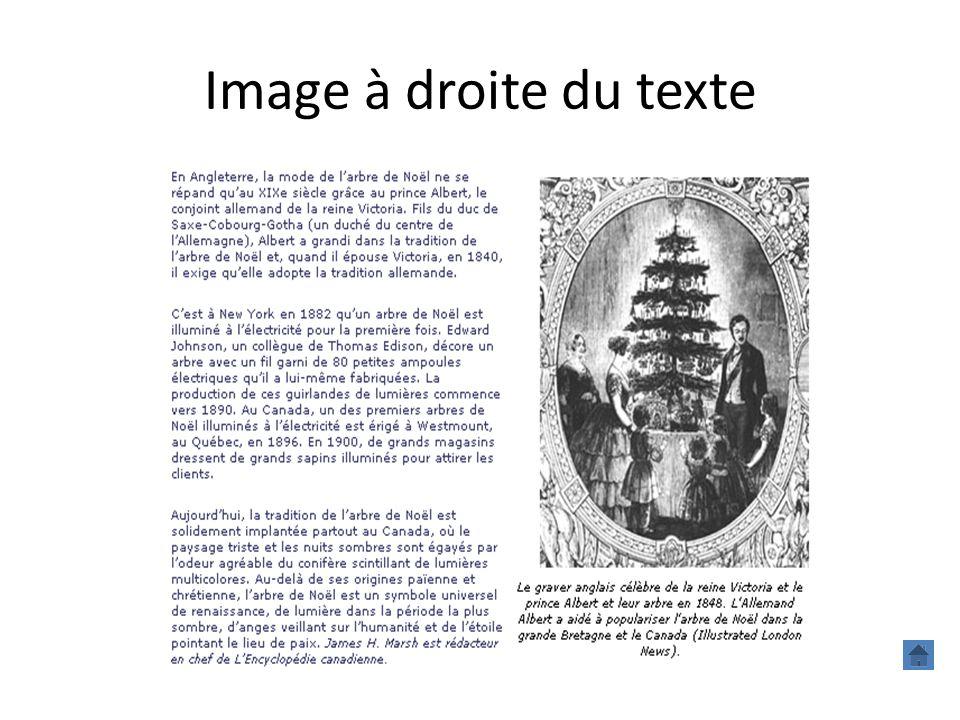 Image à droite du texte