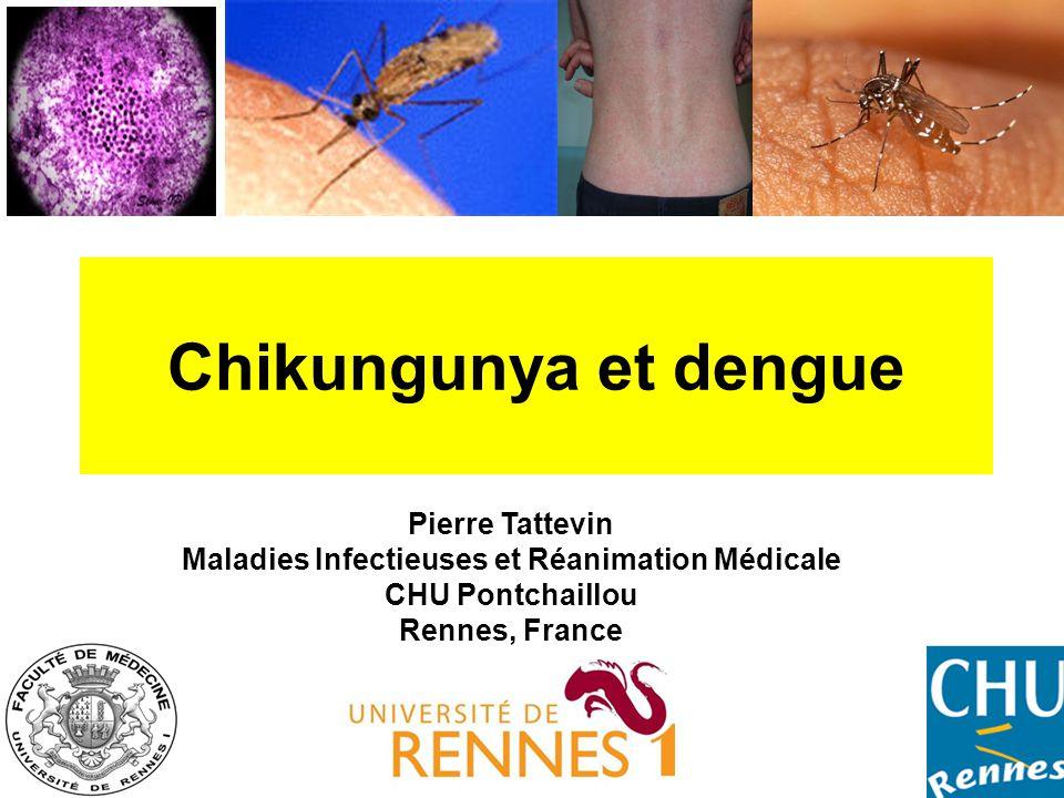 •Flavivirus, 4 sérotypes (DEN-1, 2, 3 et 4) •Réservoir: l'Homme •Transmission: Aedes aegypti > Ae.