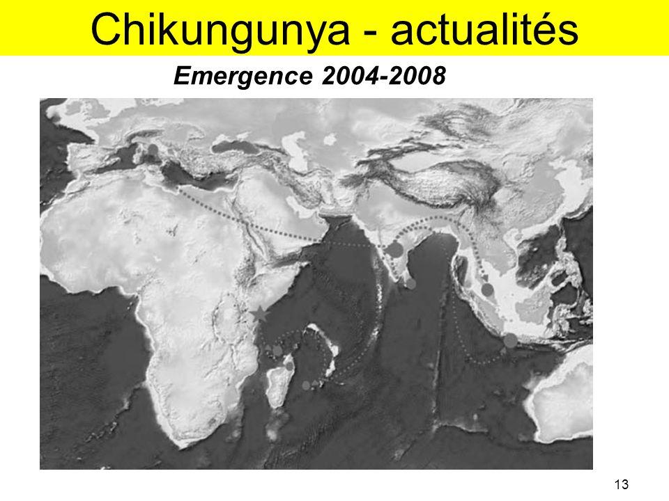 Chikungunya - actualités Emergence 2004-2008 13