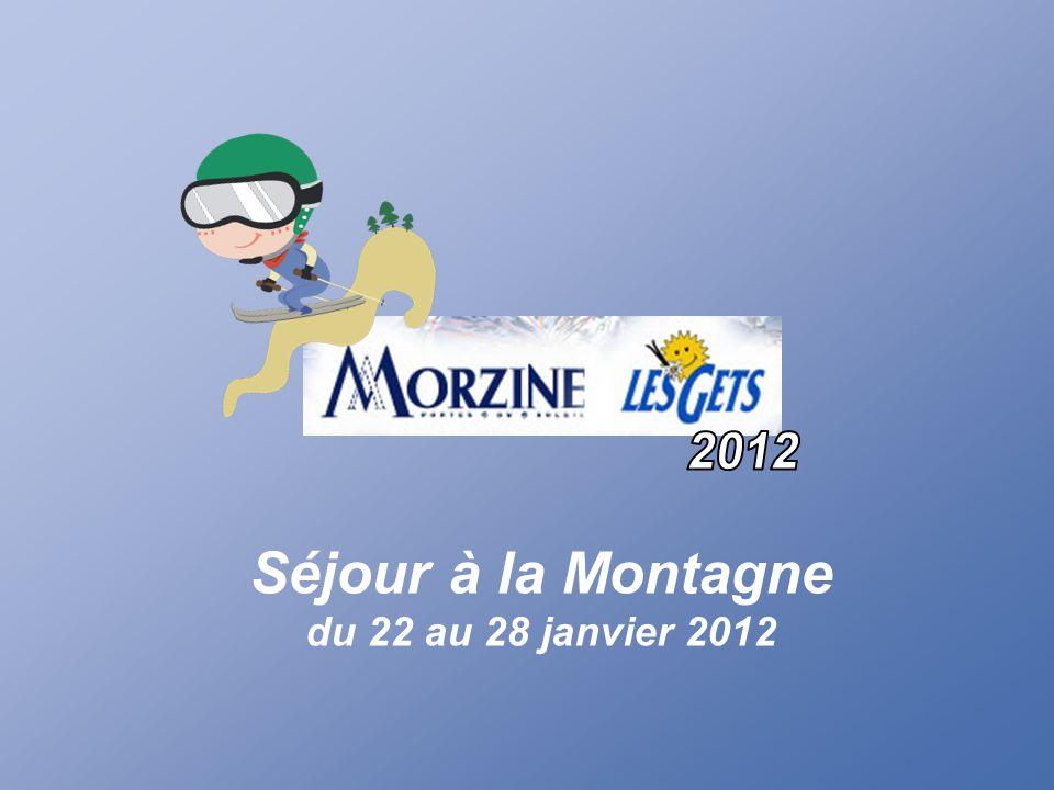 Séjour à la Montagne du 22 au 28 janvier 2012