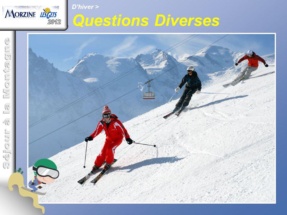 D'hiver > Questions Diverses