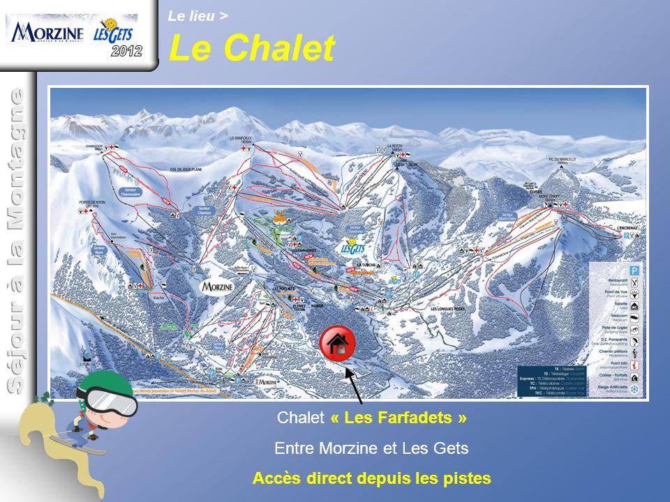 Le lieu > Le Chalet Chalet « Les Farfadets » Entre Morzine et Les Gets Accès direct depuis les pistes