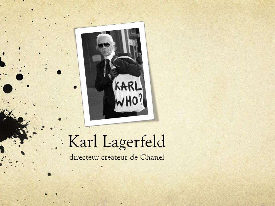 Karl Lagerfeld directeur créateur de Chanel
