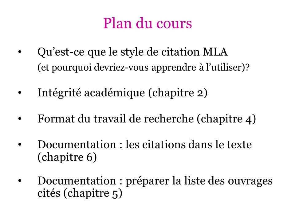 Documentation : préparer la liste des ouvrages cités (chapitre 5) Article électronique : Arbaoui, Hakim, et al.