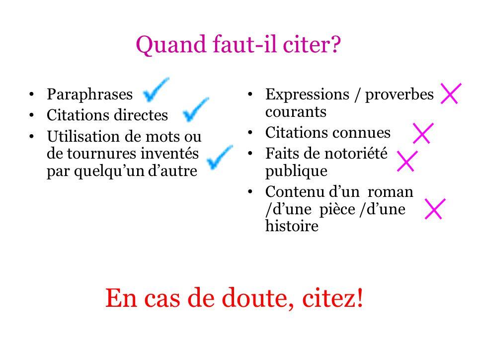 Liste d'ouvrages cités - exemple Auteurs multiples: 1 auteur: Joubert, Jean-Louis.