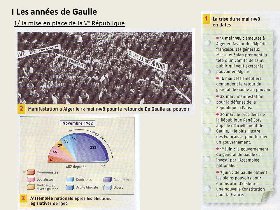 I Les années de Gaulle 1/ la mise en place de la V e République