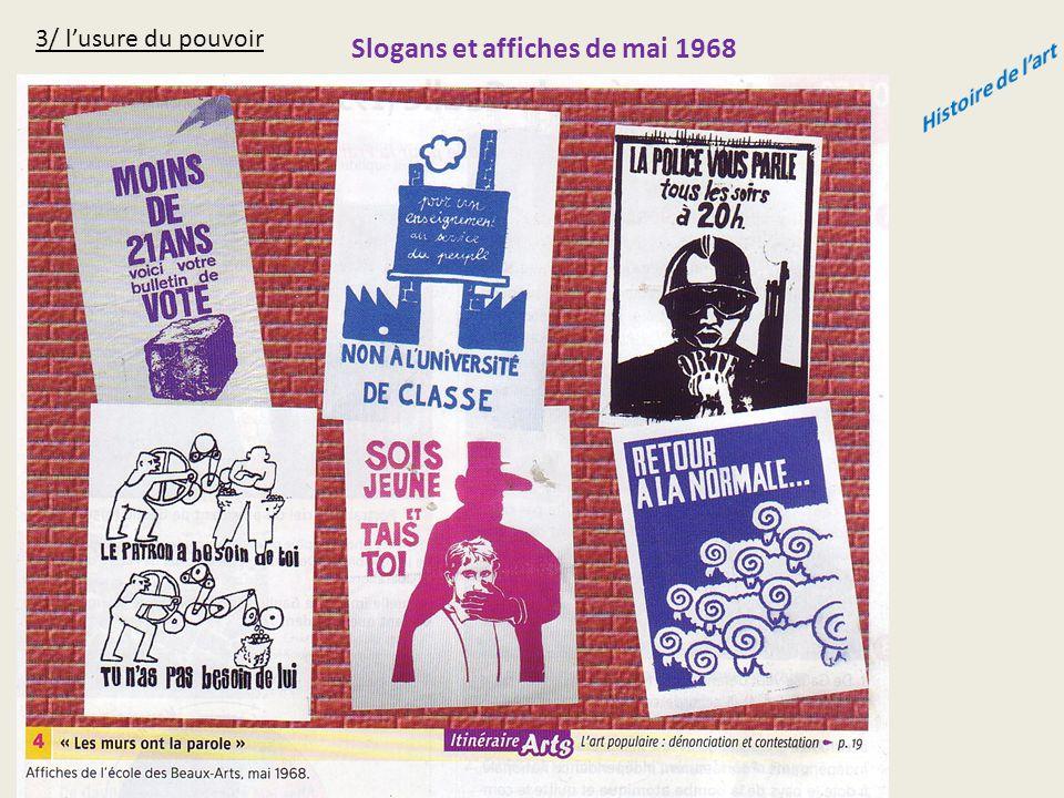 3/ l'usure du pouvoir Slogans et affiches de mai 1968