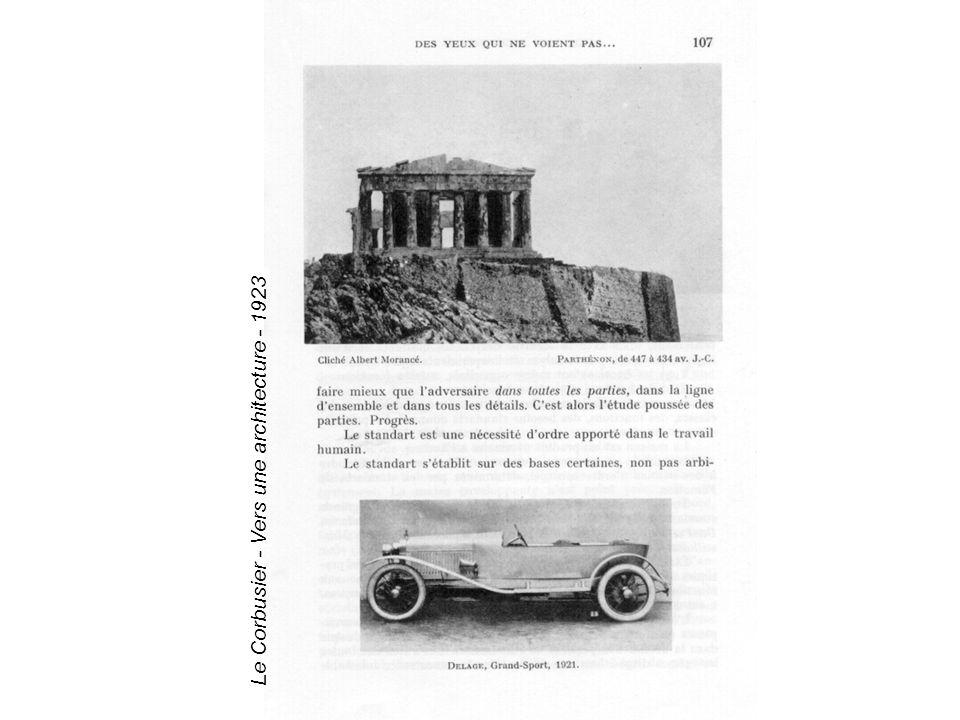 Le Corbusier - Vers une architecture - 1923