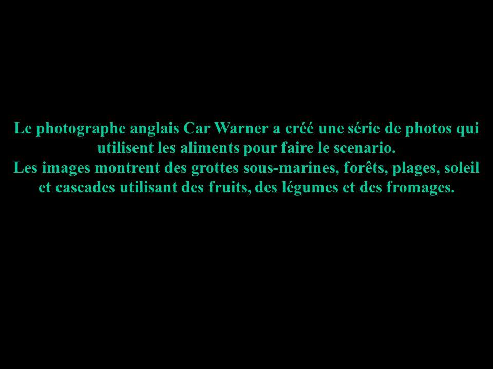 Le photographe anglais Car Warner a créé une série de photos qui utilisent les aliments pour faire le scenario. Les images montrent des grottes sous-m