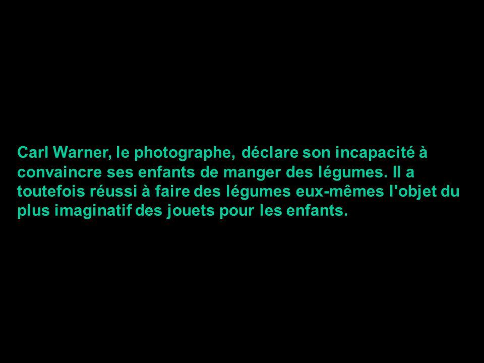 Carl Warner, le photographe, déclare son incapacité à convaincre ses enfants de manger des légumes. Il a toutefois réussi à faire des légumes eux-même