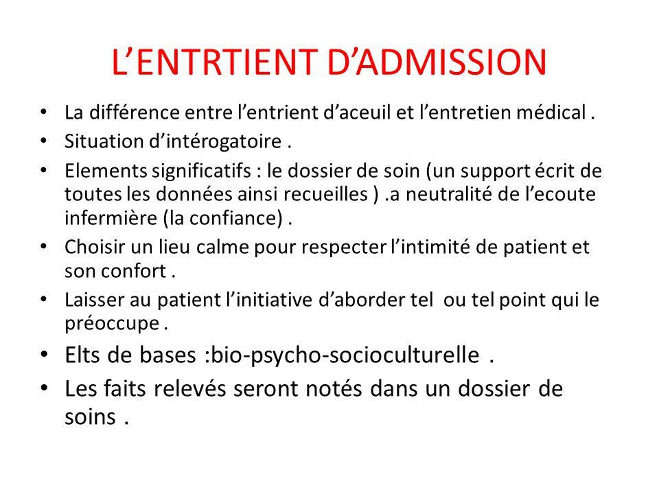 LE RECUEIL DES DONNEES Le secret professionnel +++  Le dossier de soins : description,objectifs C'est un support juridique.