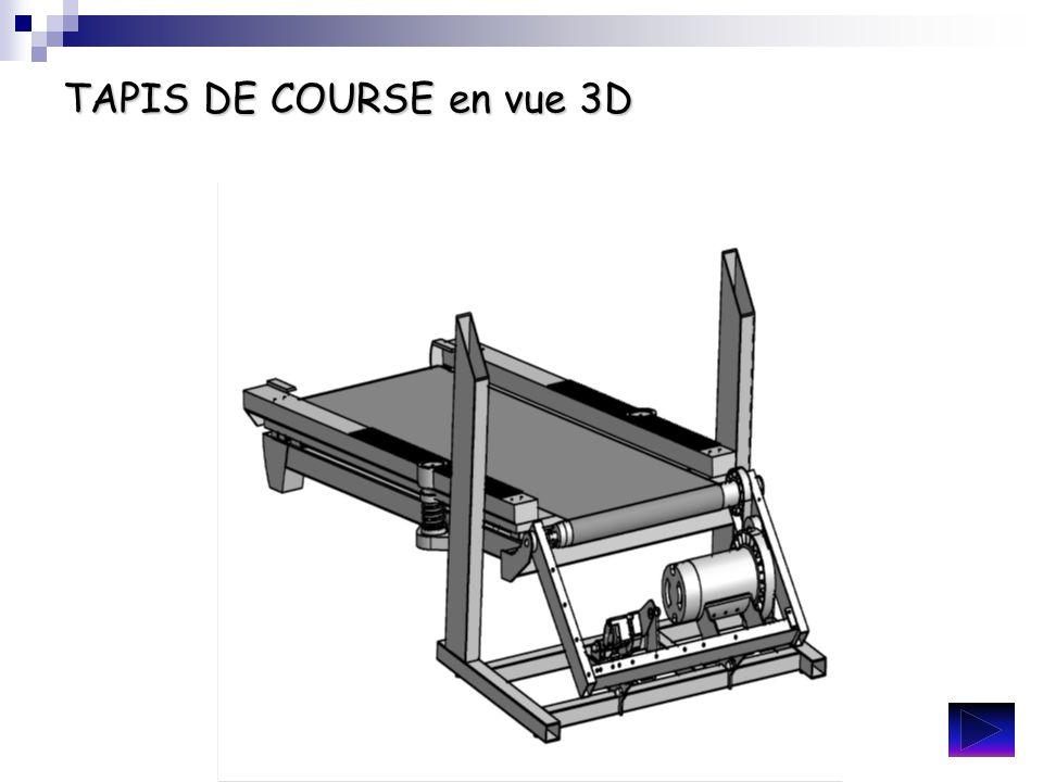 TAPIS DE COURSE en vue 3D