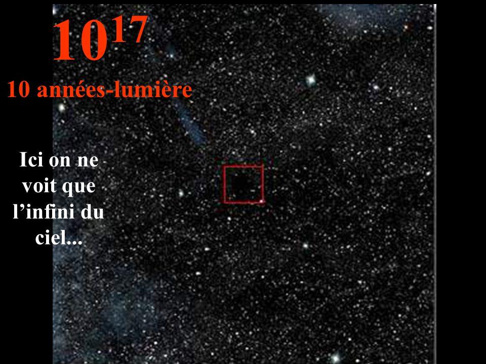 Ici on ne voit que l'infini du ciel... 10 17 10 années-lumière