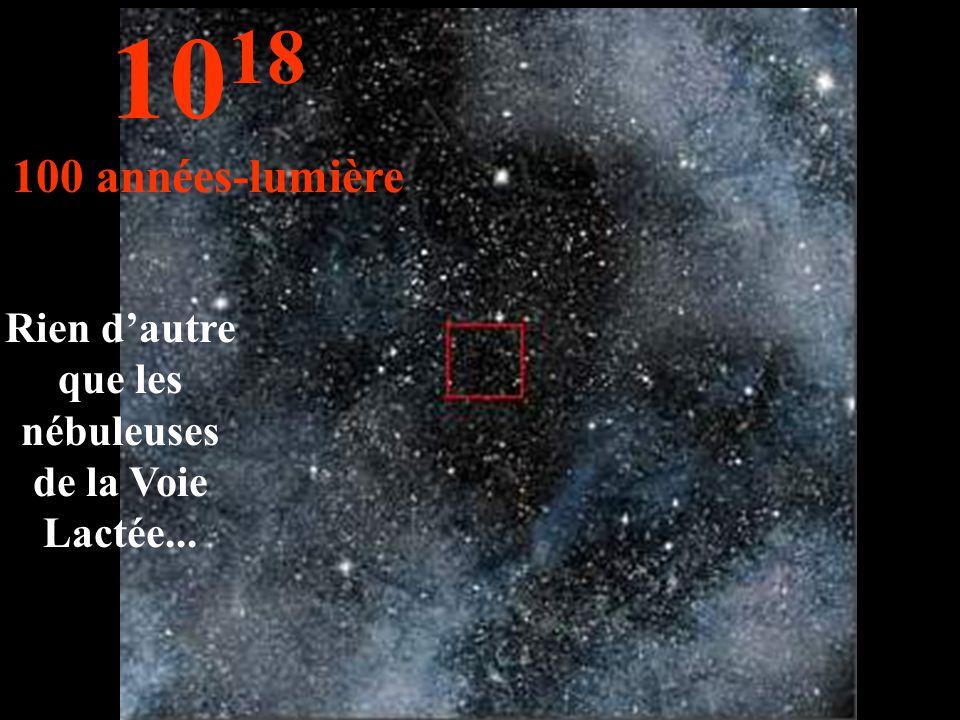 Rien d'autre que les nébuleuses de la Voie Lactée... 10 18 100 années-lumière