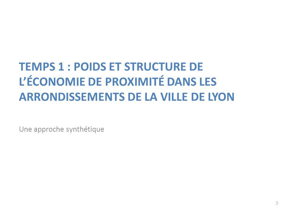 TEMPS 1 : POIDS ET STRUCTURE DE L'ÉCONOMIE DE PROXIMITÉ DANS LES ARRONDISSEMENTS DE LA VILLE DE LYON Une approche synthétique 3
