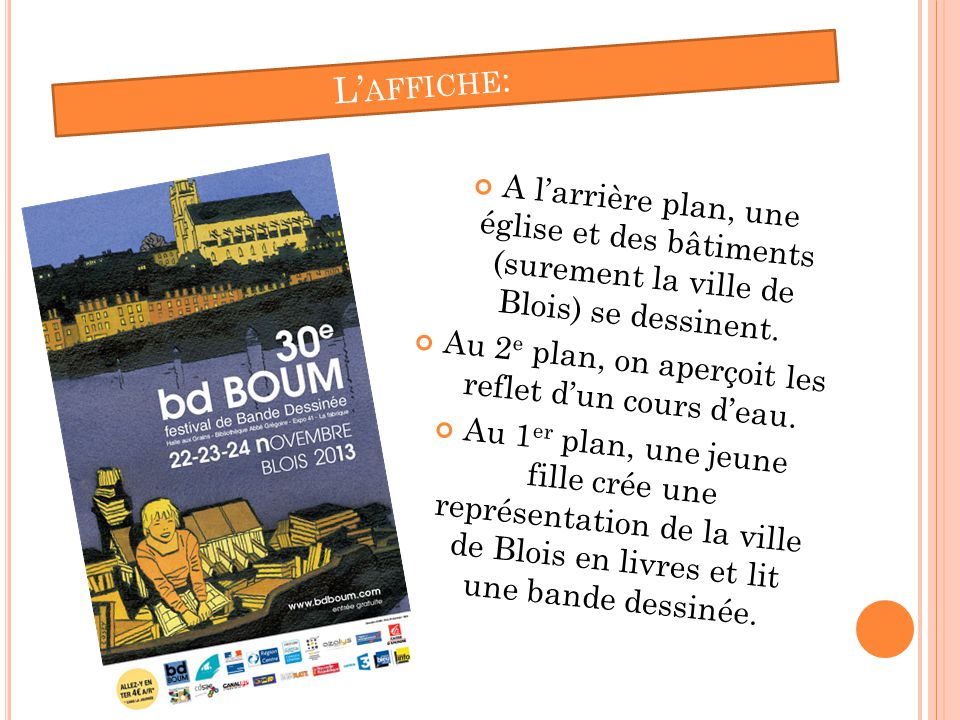 C OMBIEN DE PERSONNES : Le célèbre festival de BD boum peut aceuillire jusqu'à 22 000 visiteurs et 150 auteurs.