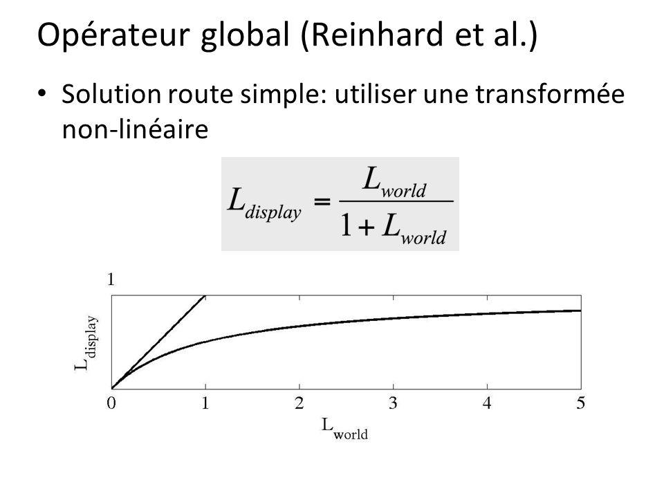 Opérateur global (Reinhard et al.) Solution route simple: utiliser une transformée non-linéaire
