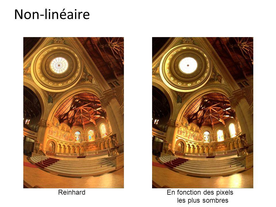 Non-linéaire ReinhardEn fonction des pixels les plus sombres