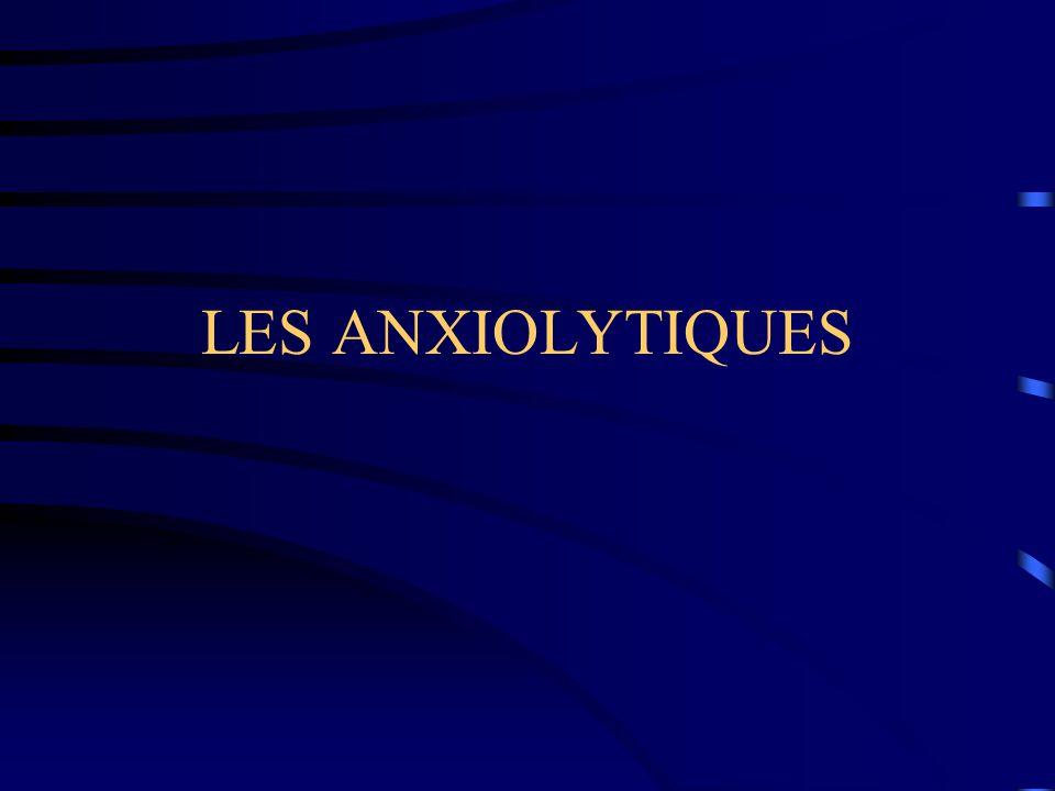 LES ANXIOLYTIQUES