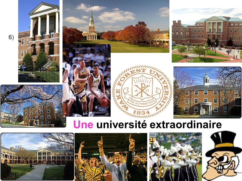 6) Une universitéextraordinaire