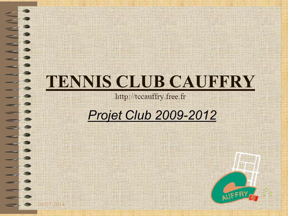 SOMMAIRE L'histoire du Club Le tennis club de CAUFFRY aujourd hui Nos objectifs Nos points forts Nos axes de Progrès Les moyens à mettre en œuvre Devis/Projet court couvert 06/07/2014